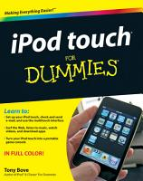 iPod touch For Dummies PDF
