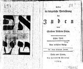 Ueber die bürgerliche Verbesserung der Juden: Bände 1-2