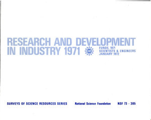 Research and Development in Industry 1971  Funds  1971  Scientists   Engineers  January 1972 PDF