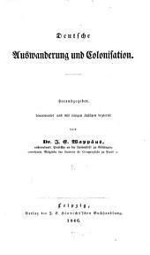 Deutsche Auswanderung und Colonisation: Band 1