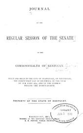 Journal of the Senate of the Commonwealth of Kentucky