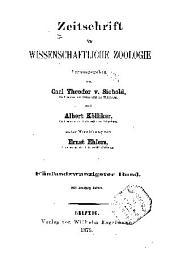 Zeitschrift für wissenschaftliche Zoologie: Band 25