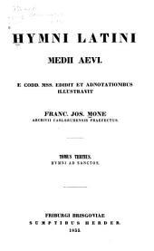 Hymni Latini medii aevi: e codd. mss, Band 3