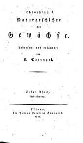 Naturgeschichte der Gewächse: Uebersetzung, Band 1