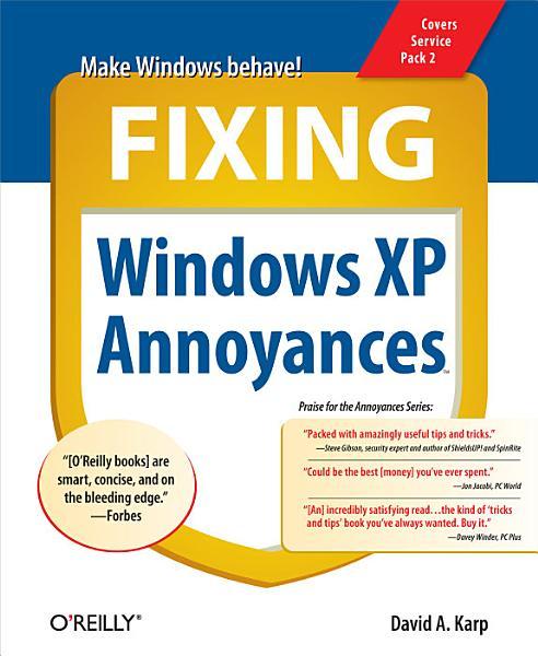 Fixing Windows XP Annoyances PDF