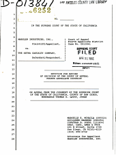 California. Supreme Court. Records and Briefs: S026252, Petition for Review