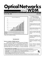Optical Networks WDM Monthly Newsletter July 2010 PDF