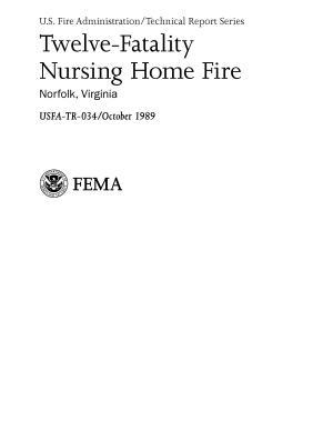 Twelve Fatality Nursing Home Fire  Norfolk  Virginia