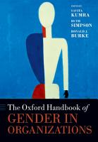 The Oxford Handbook of Gender in Organizations PDF