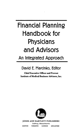 Financial Planning Handbook for Physicians and Advisors PDF