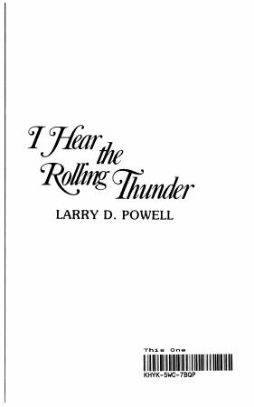 I Hear the Rolling Thunder PDF