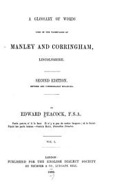 A Glossary of Words Used in the Wapentakes of Manley and Corringham, Lincolnshire: Volumes 1-2
