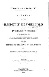 Abridgment of Messages and Documents