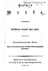 Goethes Werke: Wilhelm Meisters theatralische Sendung