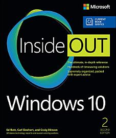 Windows 10 Inside Out  Includes Current Book Service