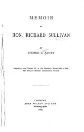 Memoir of Hon. Richard Sullivan