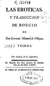 Las Eroticas y traducción de Boecio