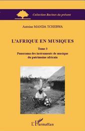 L'Afrique en musiques (Tome 3): Panorama des instruments de musique du patrimoine africain