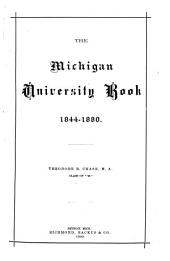 The Michigan University Book: 1844-1880