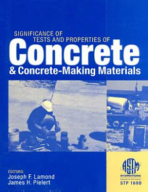Significance of Tests and Properties of Concrete and Concrete making Materials PDF
