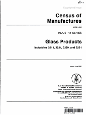 1992 Census of Manufactures Industry Series Glass Products Industries 3211 3221  3229  and 3231 PDF