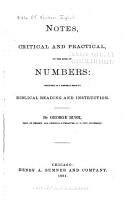 Notes  Critical and Practical  on the Book of Numbers PDF