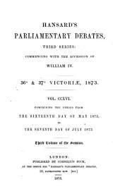 Hansard's Parliamentary Debates: Volume 216