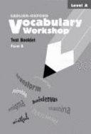 Vocabulary Workshop Test Booklets  Level A  Form A PDF