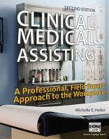 Clinical Medical Assisting  A Professional  Field Smart Approach to the Workplace PDF