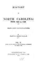 History of North Carolina  Embracing the period of the proprietary government  from 1663 to 1729 PDF
