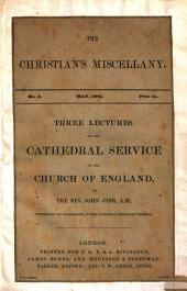 Three Lectures on the Cathedral Service of the Church of England