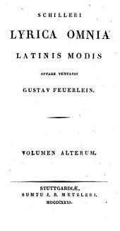Lyrica omnia latinis modis aptare tentavit Gustav Feuerlein: Volume 2