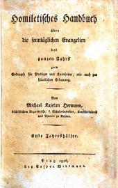Homiletisches Handbuch über die sonntäglichen Evangelien des ganzen Jahrs: Volume 1
