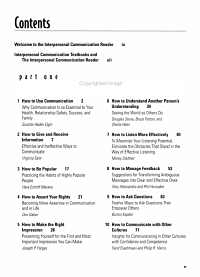 The Interpersonal Communication Reader Book
