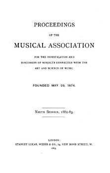 Proceedings of the Musical Association PDF