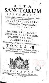 Acta sanctorum: Acta sanctorum septembris, Volume 46