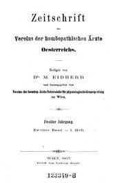 Zeitschrift des Vereins der homöopathischen Aerzte Oesterreichs