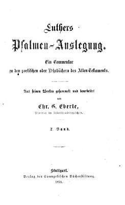 Luthers Psalmen Auslegung PDF
