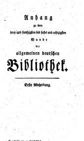 Allgemeine deutsche Bibliothek: Bände 53-86
