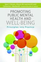 Promoting Public Mental Health and Well being PDF