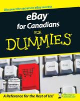 eBay For Canadians For Dummies PDF