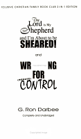 The Lord Is My Shepherd and I m About to Be Sheared PDF