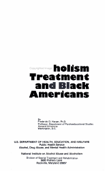Alcoholism Treatment and Black Americans PDF