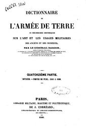 Dictionnaire de l'armée de terre, ou Recherches historiques sur l'art et les usages militaires des anciens et des modernes par le Général Bardin: 14
