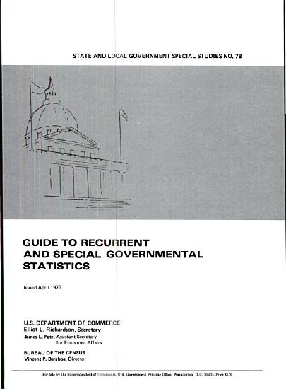 Guide to Recurrent and Special Governmental Statistics PDF