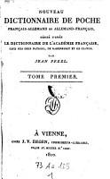 Nouveau dictionnaire de poche francais allemand et allemand francais  etc   PDF