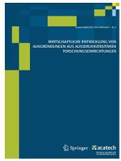 Wirtschaftliche Entwicklung von Ausgründungen aus außeruniversitären Forschungseinrichtungen