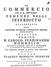 De commercio in S. R. Imperio tempore belli interdicto diss