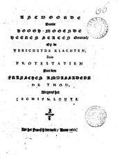 Antwoorde ... op de verscheyde klachten, ende protestatien van den Franschen ambassadeur de Thou: Volume 66