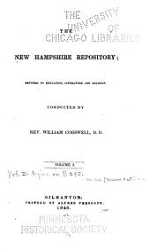 The New Hampshire Repository: Devoted to Education, Literature and Religion